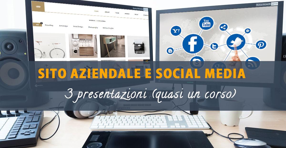 sito aziendale social media