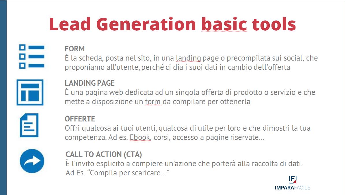 02-lead generation strumenti e basic tools