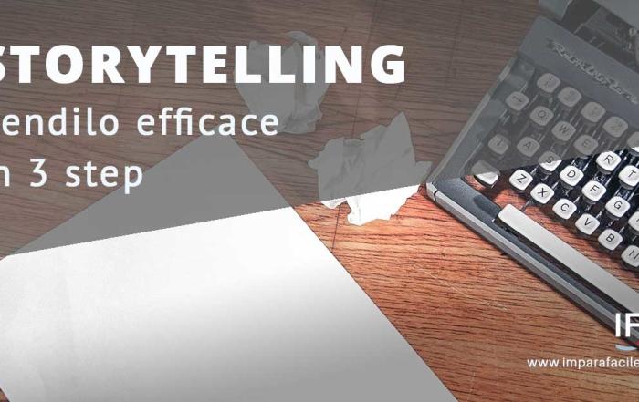 storytelling efficace in 3 mosse