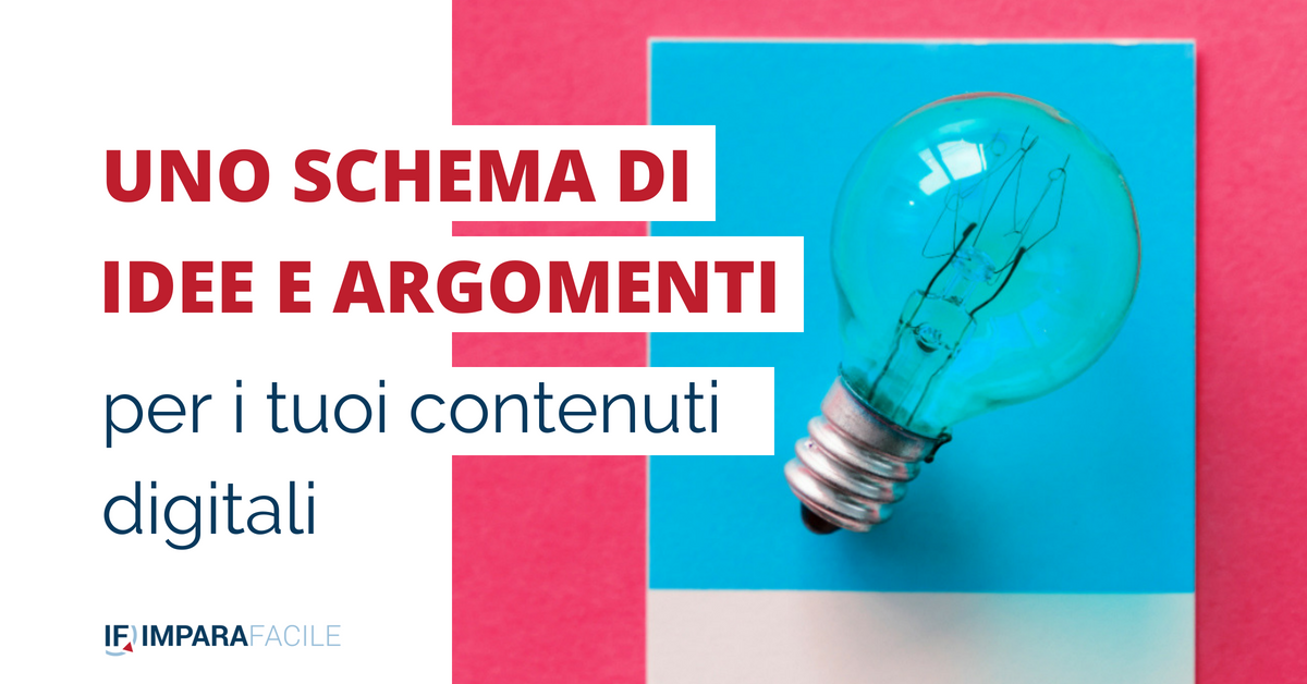 idee argomenti contenuti digitali social blog