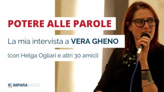 locandina Potere alle parole, intervista a Vera Gheno