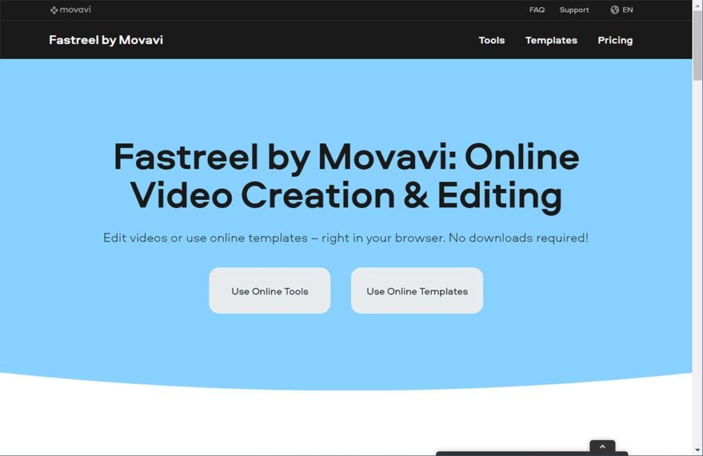 Free Video editing tools - FastReel