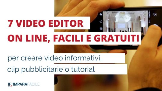 video editor e video editing on line